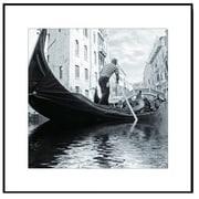 3 Panel Photo Wood Mounted Venice Scene Framed Photographic Print
