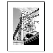 3 Panel Photo Wood Mounted Tower Bridge in London Framed Photographic Print