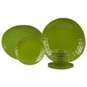 Encore Concepts Woven 14 Piece Dinnerware Set; Sage Green