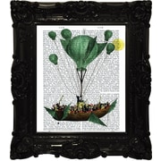 Empire Art Direct Funky Fab and Chic ''Into the Clouds'' Framed Graphic Art on Canvas