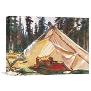 Global Gallery 'A Tent in the Rockies 1916' by John Singer Sargent Painting Print on Wrapped Canvas