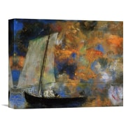 Global Gallery 'Flower Clouds' by Odilon Redon Painting Print on Wrapped Canvas
