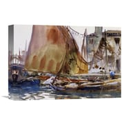 Global Gallery 'Drying Sails, 1902-04' by John Singer Sargent Painting Print on Wrapped Canvas