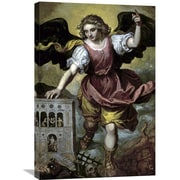 Global Gallery 'The Archangel St. Michael' by Mexican School Painting Print on Wrapped Canvas