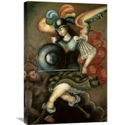 Global Gallery 'The Archangel Saint Michael' Peruvian School Painting Print on Wrapped Canvas