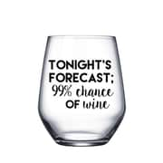 Hey Shabby Me Tonight's Forecast; 99pct Chance of Wine Glass