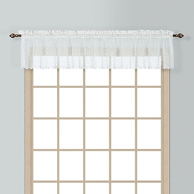 United Curtain Co. Charlotte 56'' Curtain Valance; White