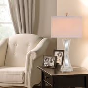 Catalina Lighting 32'' H Table Lamp with Square Shade; 3-Way E26 CFL spiral
