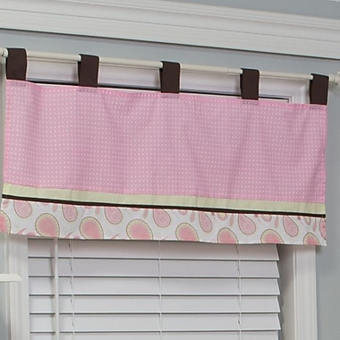 Pam Grace Creations Pam's Paisley 38'' Curtain Valance