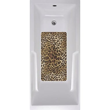 No Slip Mat by Versatraction Cheetah Bath Tub and Shower Mat
