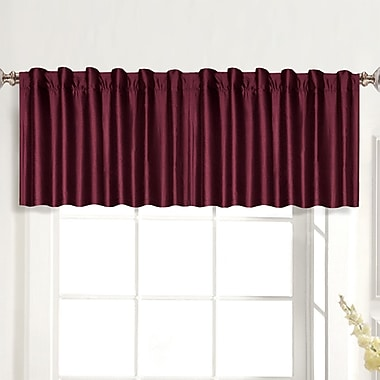 United Curtain Co. Dupioni Rod Pocket Tailored 42'' Curtain Valance; Taupe