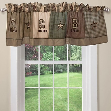 My World Alpha Bravo Charlie 70'' Curtain Valance