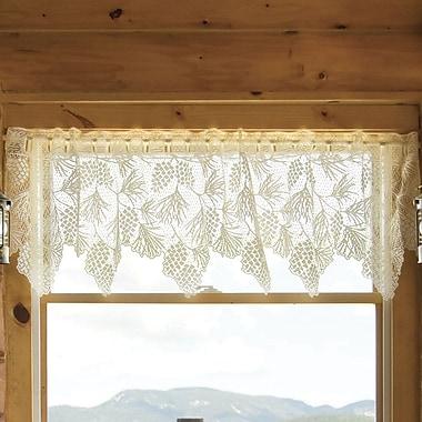 Heritage Lace Woodland 60'' Curtain Valance; Ecru