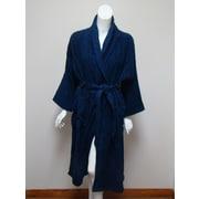Textiles Plus Inc. Terry Bath Robe; Navy Blue