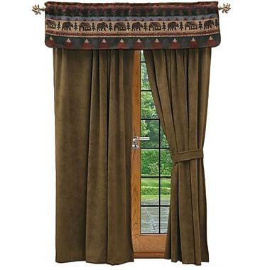 Wooded River Cabin Bear 60'' Curtain Valance