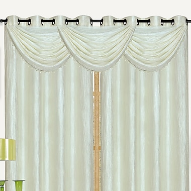 Kashi Home Sherry Crushed Satin Curtain Valance; Antique Gold