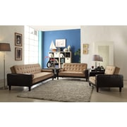 Glory Furniture Eastie Bed Armchair; Mocha Suede/Dark Brown Faux Leather