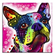 Picture it on Canvas 'Colorful Boston Terrier' Graphic Art