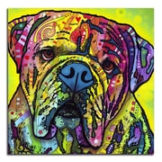Picture it on Canvas 'Colorful Bulldog' Graphic Art