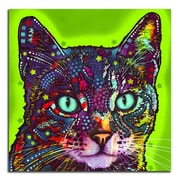 Picture it on Canvas 'Colorful Green Cat' Graphic Art