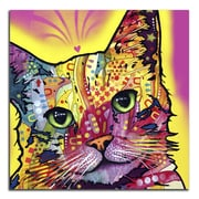 Picture it on Canvas 'Colorful Pink Cat' Graphic Art
