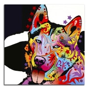 Picture it on Canvas 'Colorful Husky' Graphic Art