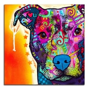 Picture it on Canvas 'Colorful Pitbull' Graphic Art