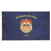 Annin Flagmakers Nyl-Glo Merchant Marine Traditional Flag