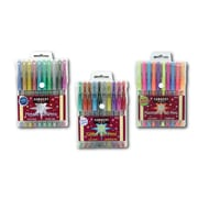 Sargent Art Inc Glitter, Fluorescent and Metallic Gel Pen Set