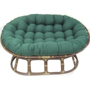 Blazing Needles Double Papasan Chair with Solid Color Cushion; Forest Green