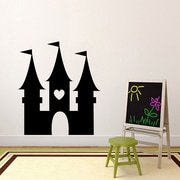SweetumsWallDecals Princess Castle Wall Decal; Black