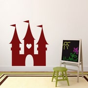 SweetumsWallDecals Princess Castle Wall Decal; Cranberry