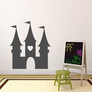 SweetumsWallDecals Princess Castle Wall Decal; Dark Gray