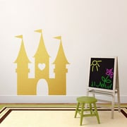 SweetumsWallDecals Princess Castle Wall Decal; Gold