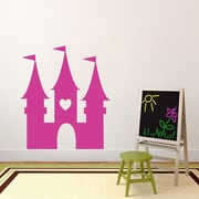 SweetumsWallDecals Princess Castle Wall Decal; HotPink