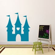 SweetumsWallDecals Princess Castle Wall Decal; Teal