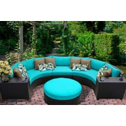 TK Classics Barbados 6 Piece Seating Group with Cushion; Tangerine