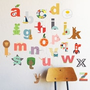 The Lovely Wall Company Interactive Lowecase Alphabet Wall Decal