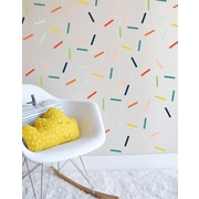 The Lovely Wall Company Random Colorful Sprinkles Wall Decal