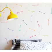 The Lovely Wall Company Bright Dainty Arrows Wall Decal; Bright Multi