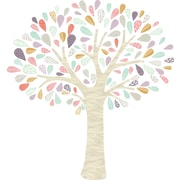 The Lovely Wall Company Whimsical Tree Wall Decal; Pink / Mint / Purple