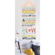 The Lovely Wall Company Kids Rules Wall Decal; Pastel
