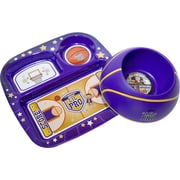 Remarkabowl™ Lil Pro Basketball Dish Set, Purple/Yellow (1-30512)