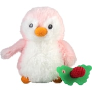 RaZbaby® RaZ-Buddy Pink Penguin Plush Teether Holder (909-RPP)