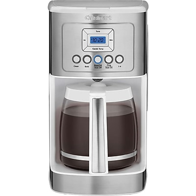 Cuisinart DCC-3200W 14-Cup Programmable Coffeemaker, Stainless Steel/White IM11Y6612
