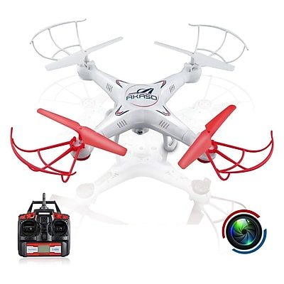 Akaso 4 Channel 2.4 GHz 6-Axis RC Quadcopter Toy Drone (X5C)