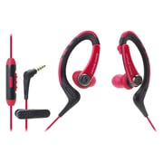 Audio-Technica® SonicSport® ATH-SPORT1iS In-Ear Headphone with In-Line Mic and Control, Red