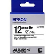 "Epson® LK-4WBN LabelWorks™ 1/2"" Standard LK Tape Cartridge"