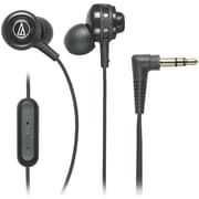 Audio-Technica® SonicSport® ATH-COR150iS In-Ear Headphone with In-Line Mic and Control, Black