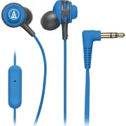 Audio-Technica® SonicSport® ATH-COR150iS In-Ear Headphone with In-Line Mic and Control, Blue